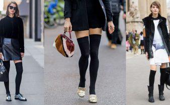 Tre outfit da abbinare con calze parigine nere