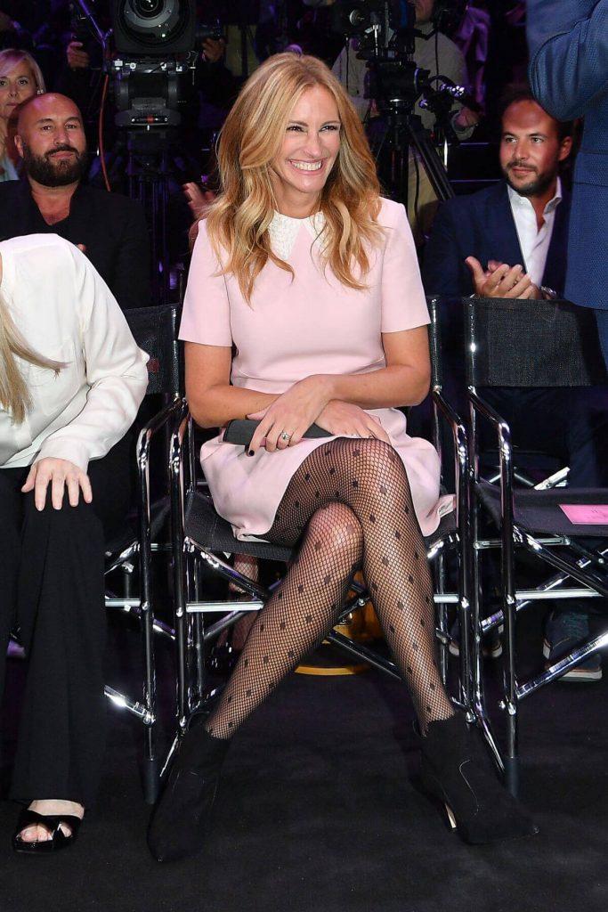 Julia Roberts tra il pubblico della sfilata calzedonia leg show 2017
