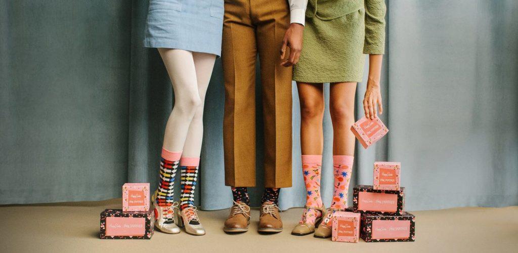 Calzini happy Socks indossati